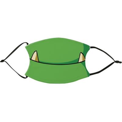 Vicces szájmaszk - Zöld szőrny