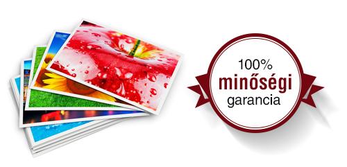 100% minőségi garancia